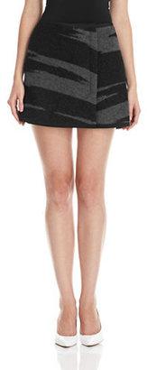 DKNY Knit Tiger Stripe Mini Skirt