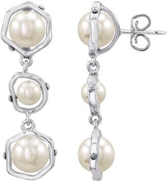 Majorica Sterling Silver & Man-Made Organic Pearl Drop Earrings