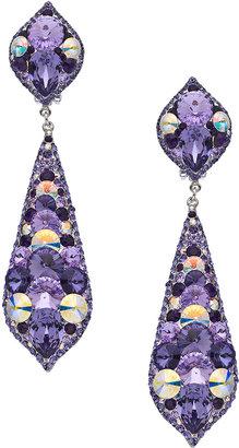 Swarovski Stefanie Somers Collection Silver and Grape Elements Kiev Drop Earrings