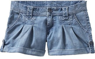 """Old Navy Women's Low-Rise Pleated Denim Shorts (3 1/2"""")"""