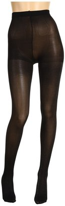 Anne Klein Tights - Solid Subtle Metallic Tight (2-Pair Pack) (Black/Black/Silver) - Hosiery