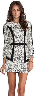 Parker Blanche Paneled Dress
