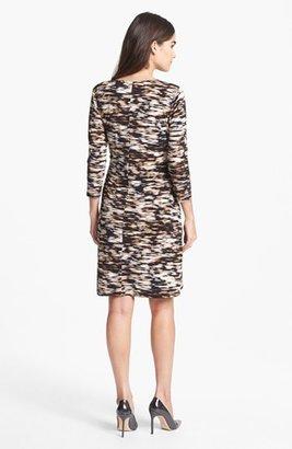 Calvin Klein Print Faux Wrap Dress