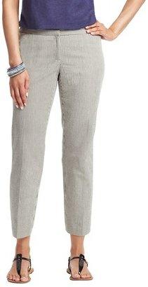 LOFT Petite Julie Cropped Pants in Corded Cotton Seersucker