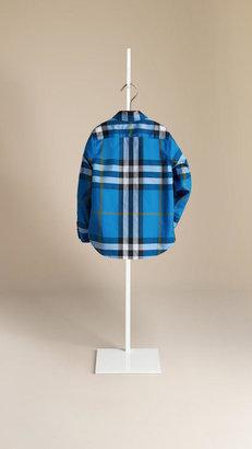 Burberry Check Button-Down Cotton Shirt