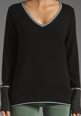 Michael Stars Long Sleeve V Neck Sweater