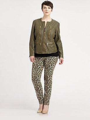 MICHAEL Michael Kors MICHAEL MICHAEL KORS, Salon Z Savannah Leopard-Print Jeans