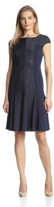 Anne Klein Women's Sand Dune Jersey Fit-and-Flare Dress