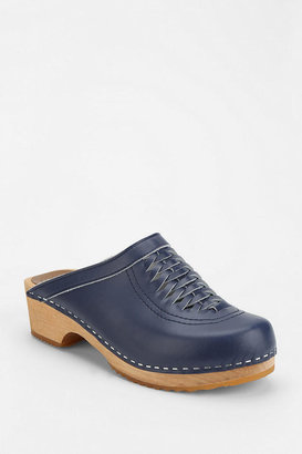 Urban Outfitters Olsson Woven Leather Clog