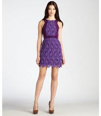 Ali Ro crushed grape sleeveless lace dress