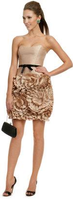 Milly Almond Rosette Dress