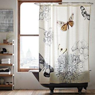 west elm Butterfly Shower Curtain