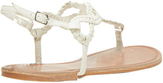 Wet Seal Braided Loop T-Strap Sandals