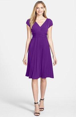 Suzi Chin Ivy & Blu Ruched Matte Jersey Dress