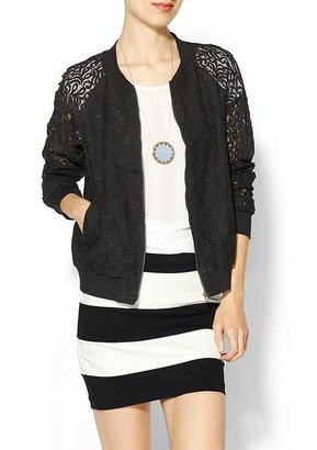 Juicy Couture Rhyme Los Angeles Lace Bomber