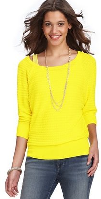 LOFT Textural Striped Cotton Button Back Sweater