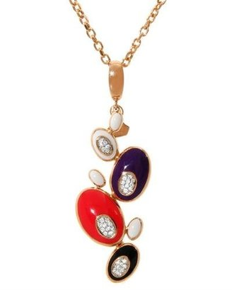 Rosato Genuine TM) Necklace. 0.1 Ctw Si1-Si2 Color G Diamonds Enamel Necklace. 8.0 grams in weight. 100% Satisfaction Guaranteed.