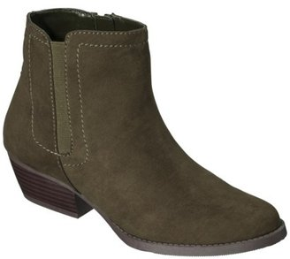 Merona Women's Kaitlin Casual Ankle Boot - Olive