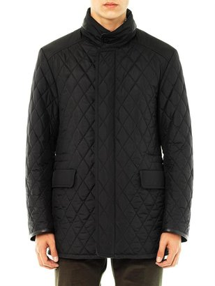 Brioni Quilted flannel-lined jacket