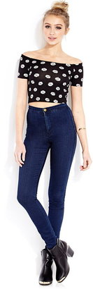 Forever 21 Throwback Blooms Crop Top