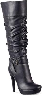 G by Guess Women's Shoes, Dorbii Wide Calf Platform Dress Boots
