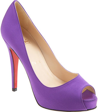 Christian Louboutin Satin Very Prive - Purple