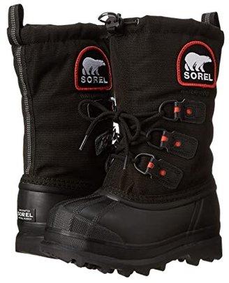 Sorel Glaciertm XT (Little Kid/Big Kid) (Black/Red Quartz) Boys Shoes