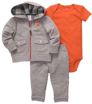 Carter's 3-Piece Hooded Cardigan Pant Set