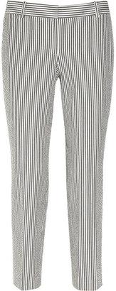 J.Crew Café striped seersucker Capri pants
