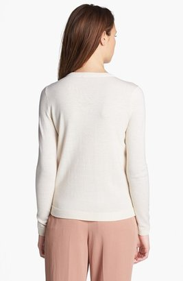 Theory 'Yulia L.' Wool & Leather Sweater