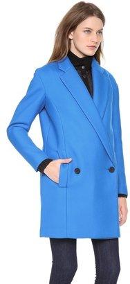 Tibi Oversize Drop Shoulder Coat with Removable Lining