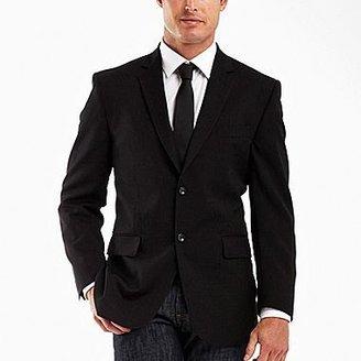 JCPenney JF J.Ferrar® Wool Black Stripe Jacket