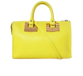 Sophie Hulme Zip-top leather bowling bag