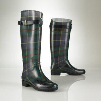 Ralph Lauren Tartan Rubber Rain Boot