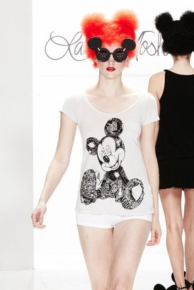 Lauren Moshi Blake Mickey Mouse Classic Swing Tee in Ash