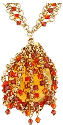 Swarovski James Murray - Fire Opal Crystal Necklace (Fire) - Jewelry