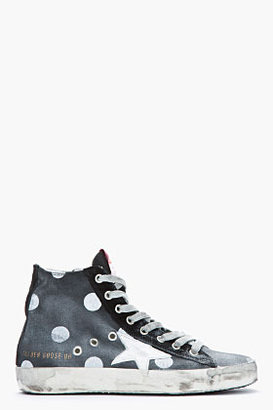 Golden Goose Black Faded Polka Dot Francy Sneakers