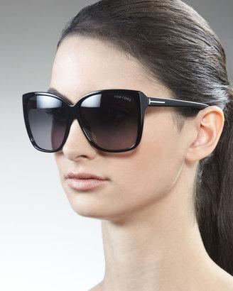Tom Ford Lydia Sunglasses, Black