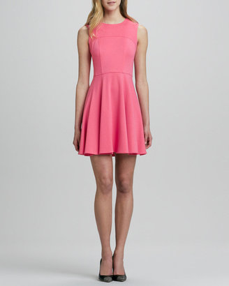 Nanette Lepore Superslide Fit-and-Flare Dress, Tulip
