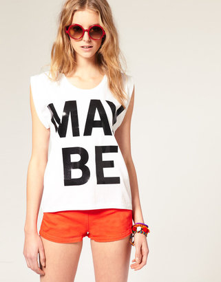 Asos Maybe Wet Look T-Shirt