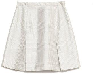 Wes Gordon Preorder Jacquard Glenplaid Box Pleat Mini Skirt