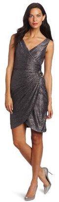 Maggy London Women's Foil Knit Side Embellishment Dress