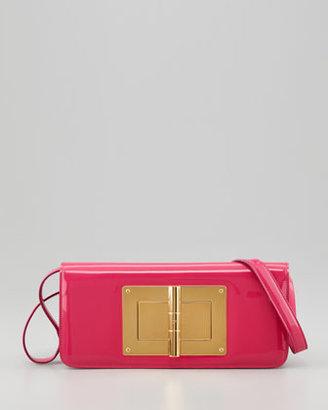Tom Ford Natalia Patent East-West Turnlock Shoulder Bag