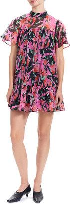 Corey Lynn Calter Tammy Mini Floral Babydoll Dress
