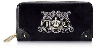 Juicy Couture Juicy Crest Velour Zip Wallet