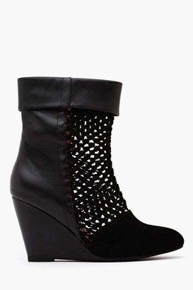 Nasty Gal Jeffrey Campbell Ashia Wedge Boot - Black