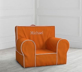 Pottery Barn Kids Orange with White Piping Anywhere Chair