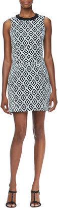 Ali Ro Sleeveless Diamond Print Dress
