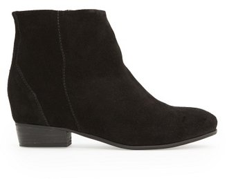 MANGO Outlet Zipper Suede Ankle Boots