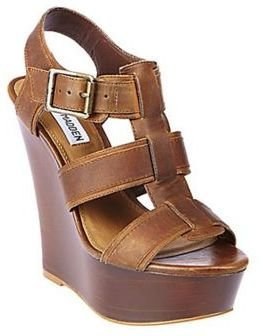 Steve Madden Wanting Leather Wedge Sandals